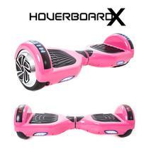 Skate Eletrico 6,5 Rosa HoverboardX Smart Balance Bluetooth -