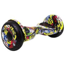"Skate Elétrico Hoverboard 10"" Coringa com LED e Bluetooth - Foston -"