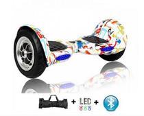 """Skate Elétrico Hoverboard 10"""" GRAFITTE Bluetooth e LED com Bolsa - Bateria Longa Duração - Smart Balance -"""