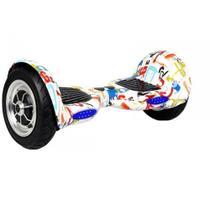 """Skate Elétrico Hoverboard 10"""" GRAFITTE  Bluetooth e LED com Bolsa - Bateria Original - Smart Balance -"""