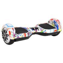 "Skate Elétrico Hoverboard 6.5"" 3100s Grafite com LED Frontal e Bluetooth - Foston -"