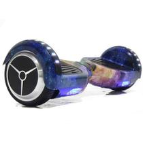 """Skate Elétrico Hoverboard 6.5"""" GALÁXIA Bluetooth e LED Lateral com Bolsa - Bateria Samsung - Smart Balance -"""