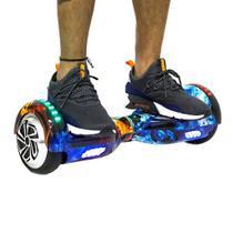 Skate Elétrico Hoverboard 6,5' Smart Balance Fogo e Gelo com LED e Bluetooth - Hoverboardx