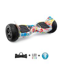 "Skate Elétrico Hoverboard 8.5"" Off-Road GRAFITTE Bluetooth e LED com bolsa - Smart Balance -"