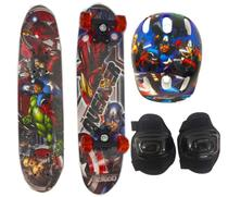 Skate Infantil Duplo C/ Acess Avengers 61cm 1063201 - Esm