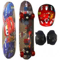 Skate Infantil Duplo C/ Acess Carros 61cm 1131201 - Esm
