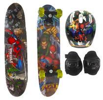 Skate infantil duplo c/ acess spider man 61cm 3223 - Esm