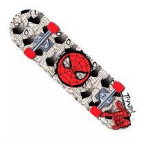 Skate Marvel Spider Man Teia Preto e Branco - DTC -