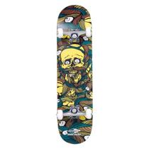 Skate Skateboard Chill Amarelo Maple Abec-5 Mormaii