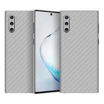Skin Adesiva p/ Galaxy Note 10 Fibra de Carbono Prateada - Viper Decals