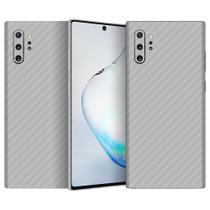 Skin Adesiva p/ Galaxy Note 10 Plus Fibra Carbono Prateada - Viper Decals