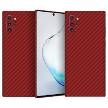 Skin Adesiva p/ Galaxy Note 10 Plus Fibra Carbono Vermelha - Viper Decals