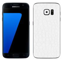 Skin Adesiva p/ Galaxy S7 Edge Couro Branco - Viper Decals