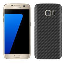 Skin Adesiva p/ Galaxy S7 Flat Fibra de Carbono Preta - Viper Decals
