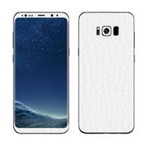 Skin Adesiva p/ Galaxy S8 Plus Couro Branco - Viper Decals
