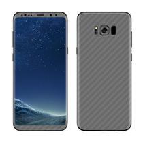 Skin Adesiva p/ Galaxy S8 Plus Fibra de Carbono Grafite - Viper Decals