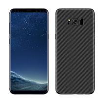 Skin Adesiva p/ Galaxy S8 Plus Fibra de Carbono Preta - Viper Decals