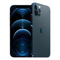 Skin Adesiva p/ iPhone 12 Pro Max Fibra de Carbono Transparente - Viper Decals