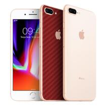 Skin Adesiva p/ iPhone 8 Plus Fibra de Carbono Vermelha - Viper Decals