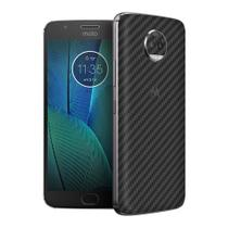 Skin Adesiva p/ Moto G5s Plus Fibra de Carbono Preta - Viper Decals
