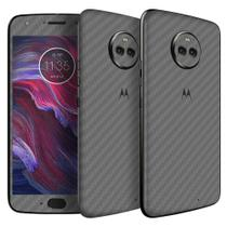 Skin Adesiva p/ Moto X4 Fibra de Carbono Grafite - Viper Decals