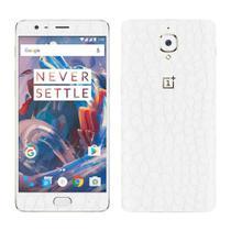 Skin Adesiva p/ OnePlus 3T Couro Branco - Viper Decals