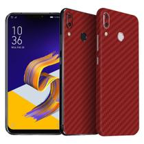 Skin Adesiva p/ Zenfone 5Z Fibra de Carbono Vermelha - Viper Decals