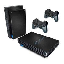 Skin Adesivo para PS2 Fat - Aço Preto - Pop Arte  Skins