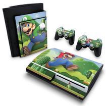 Skin Adesivo para PS3 Fat - Mario & Luigi - Pop Arte Skins