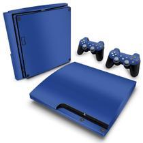 Skin Adesivo para PS3 Slim - Azul Escuro - Pop Arte  Skins