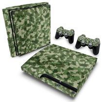 Skin Adesivo para PS3 Slim - Camuflado Verde - Pop Arte Skins