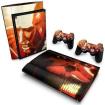 Skin Adesivo para PS3 Super Slim - Attack On Titan B - Pop Arte Skins