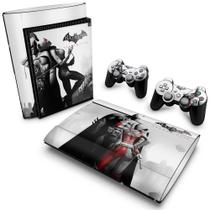 Skin Adesivo para PS3 Super Slim - Batman Akham City - Pop Arte Skins
