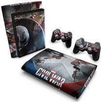 Skin Adesivo para PS3 Super Slim - Capitão America - Guerra Civil - Pop Arte  Skins