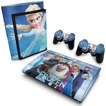 Skin Adesivo para PS3 Super Slim - Frozen - Pop Arte Skins