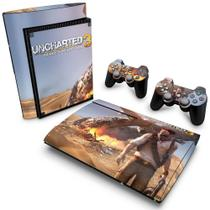 Skin Adesivo para PS3 Super Slim - Uncharted 3 - Pop Arte  Skins