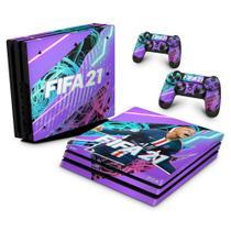 Skin Adesivo para PS4 Pro - FIFA 21 - Pop Arte Skins