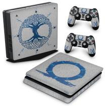 Skin Adesivo para PS4 Slim - God of War Ragnarok - Pop Arte Skins