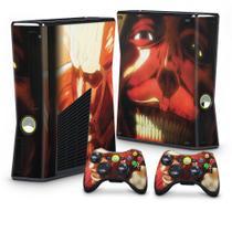 Skin Adesivo para Xbox 360 Slim - Attack On Titan B - Pop Arte Skins