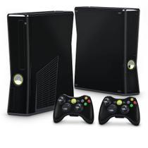 Skin Adesivo para Xbox 360 Slim - Preto Black Piano - Pop Arte Skins