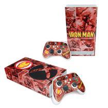 Skin Adesivo para Xbox Series S - Homem De Ferro Comics - Pop Arte Skins