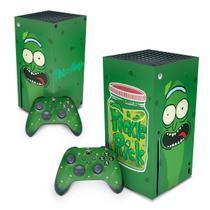 Skin Adesivo para Xbox Series X - Pickle Rick And Morty - Pop Arte Skins