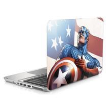 """Skin Adesivo Protetor para Notebook 15"""" Capitão América Vingadores b1 - Skin Zabom"""