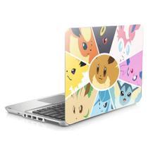 """Skin Adesivo Protetor para Notebook 15,6"""" Pokémon Eevee Eveelutions b2 - Skin Zabom"""