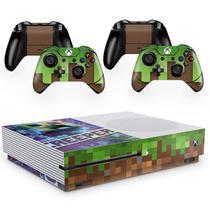 Skin Adesivo Protetor para X Box One S e Controles Minecraft b1 - Skin Zabom