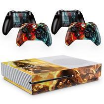 Skin Adesivo Protetor para X Box One S e Controles Mortal Kombat Scorpion b1 - Skin Zabom