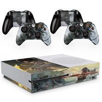 Skin Adesivo Protetor para X Box One S e Controles Shadow Rise of Tomb Raider b1 - Skin Zabom