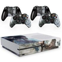 Skin Adesivo Protetor para X Box One S e Controles Shadow Rise of Tomb Raider b3 - Skin Zabom