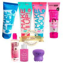 Skin Care Pré E Pós + Hidratante + Gel Rosa + Sérum + Polvo + Água Micelar - Dermachem