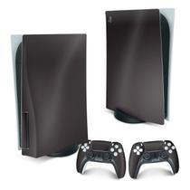 Skin PS5 Playstation 5 Adesivo - Fibra de Carbono Preto - Pop Arte Skins